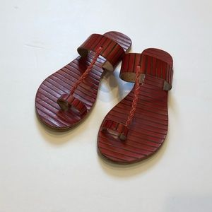 Free People leather sandals strap
